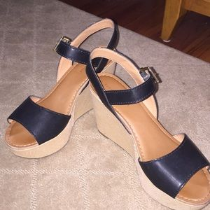 Black Tommy Hilfiger wedges